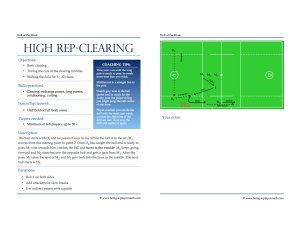 Drill of the week - Template (A PDF Version of this drill of the week can be found at the end of this post)